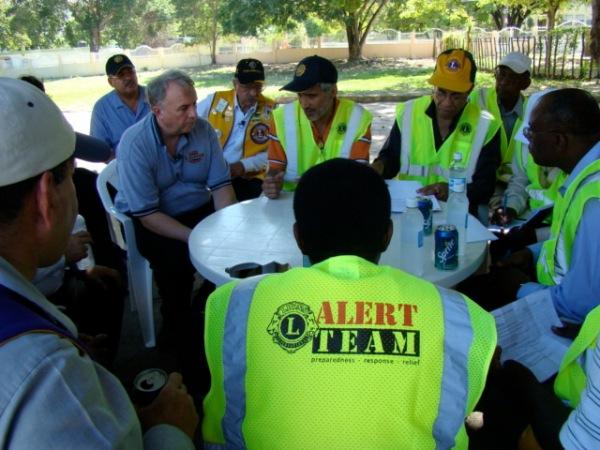 LCIF Chairperson Al Brandel in Haiti