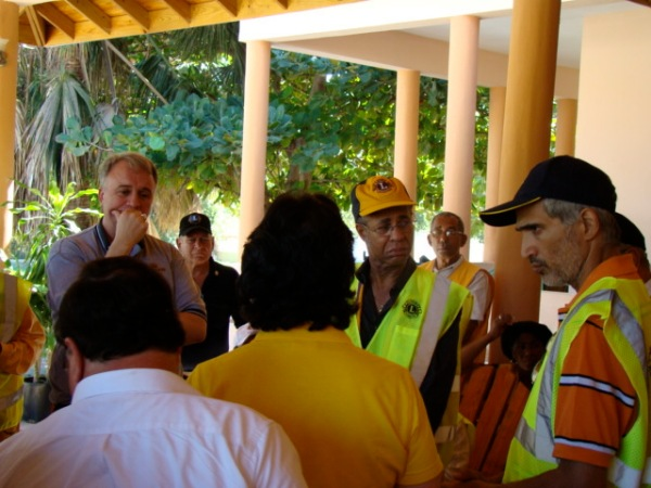 LCIF Chairperson Al Brandel Meets with Lions in Haiti