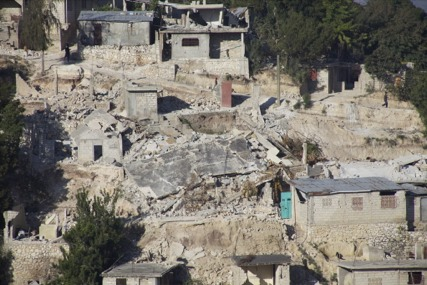 Buildings in Haiti Damaged by Massive Earthquake