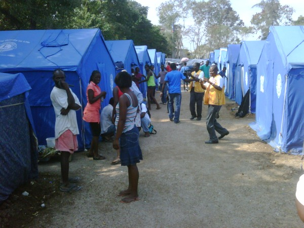 Lions Clubs International Foundation Tent City in Haiti
