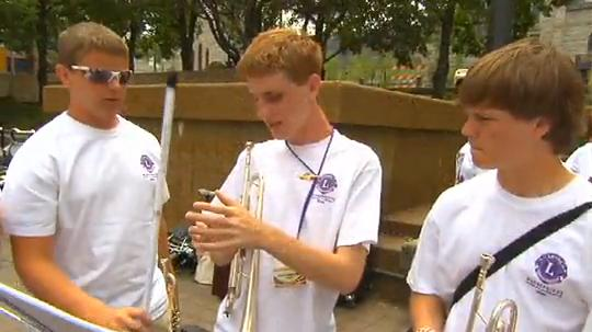 Lions Marching Band Features Blind Trumpet Player