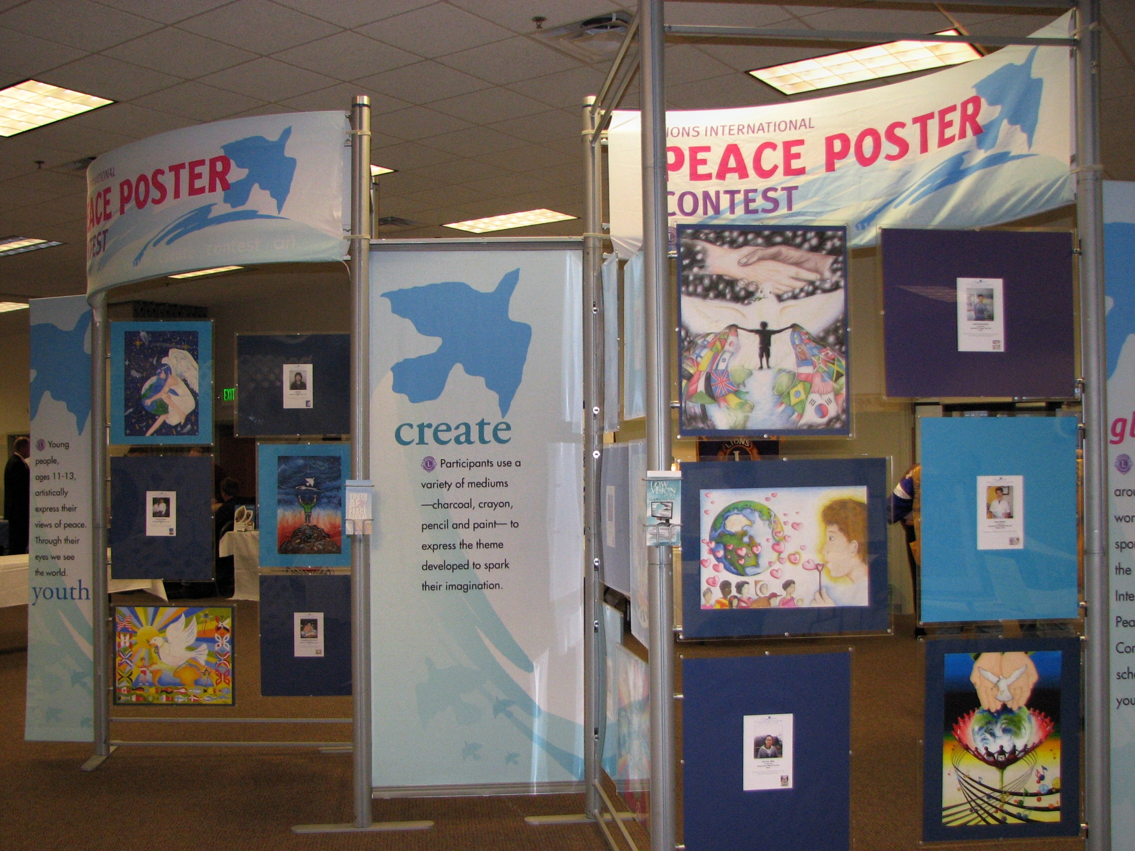Lions International Peace Poster Contest Exhibit