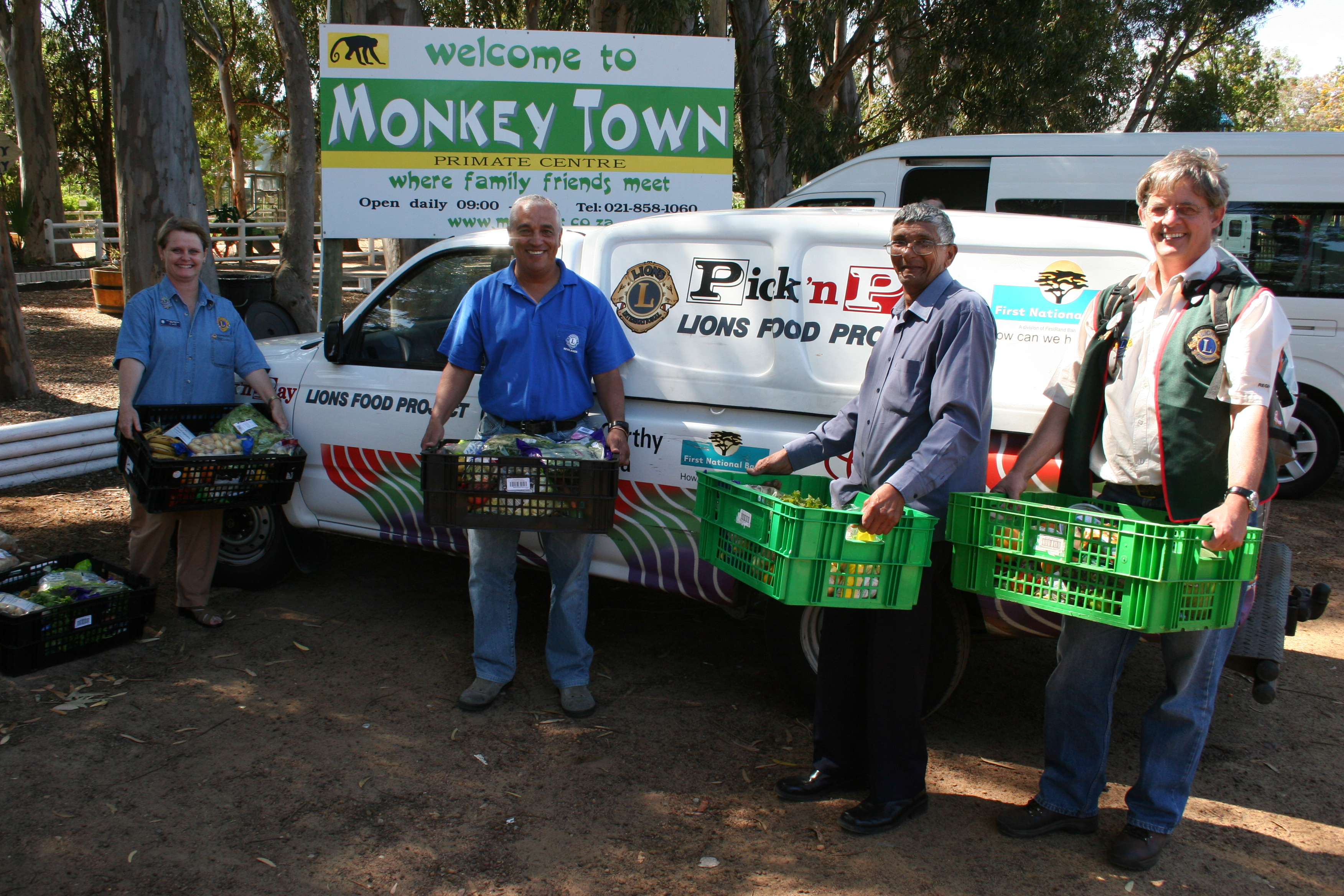 Lions Provide Food for Monkey Town