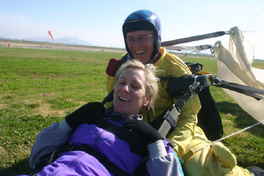 New Lions club member Skydives into Club