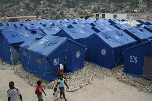 Lions Clubs Tent City in Haiti