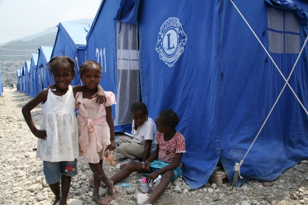 Lions Clubs International Foundation Tent City in Port-au-Prince Haiti