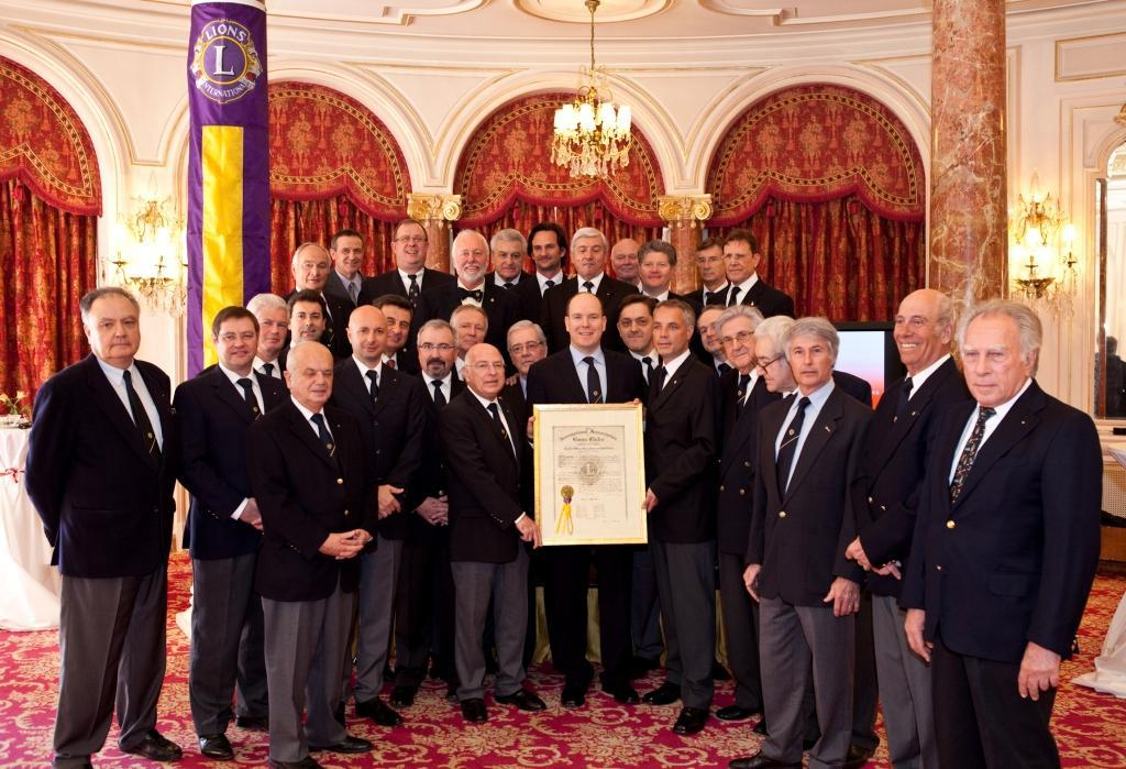 Prince Albert II becomes honorary member of Lions Club