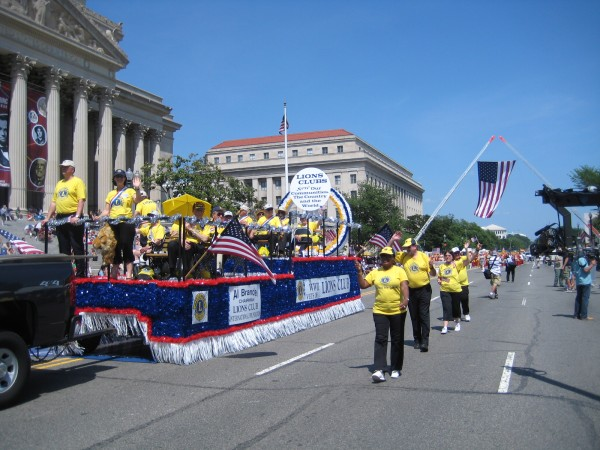 Lions Clubs Float at National Memorial Day Parade