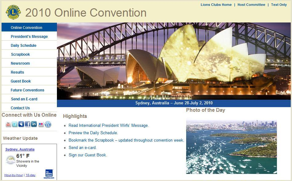 Lions Clubs International Online Convention 2010