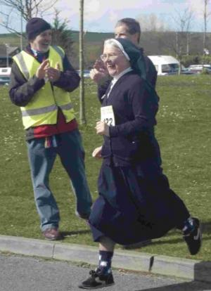 Running Nun Takes Part in Dorchester Lions Club Fun Run