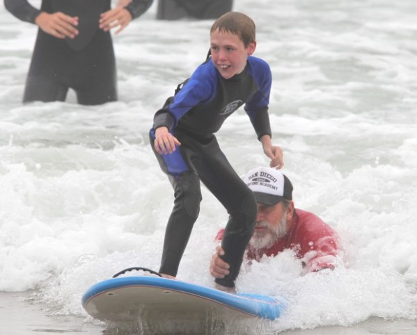Encinitas Lions Club Blind Surfing Event