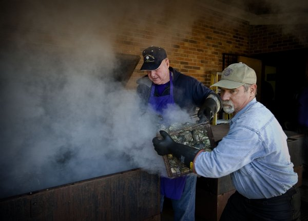 Massey Hill Lions Club Hosts Oyster Roast to Help the Blind