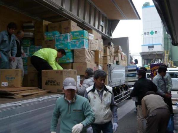 Lions in Japan Providing Disaster Relief