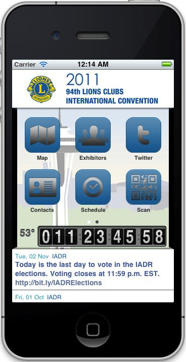 Lions Clubs iphone screenshot