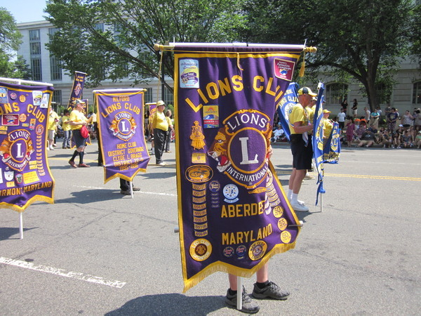 Aberdeen Lions Club Marches in National Memorial Day Parade