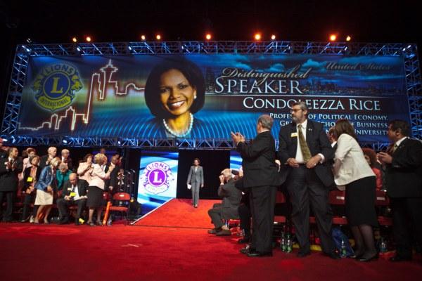 Condoleezza Rice Keynotes Lions Clubs International Convention 2011