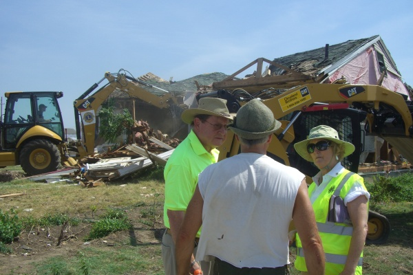 LCIF Chairperson Sid Scruggs in Joplin, Missouri